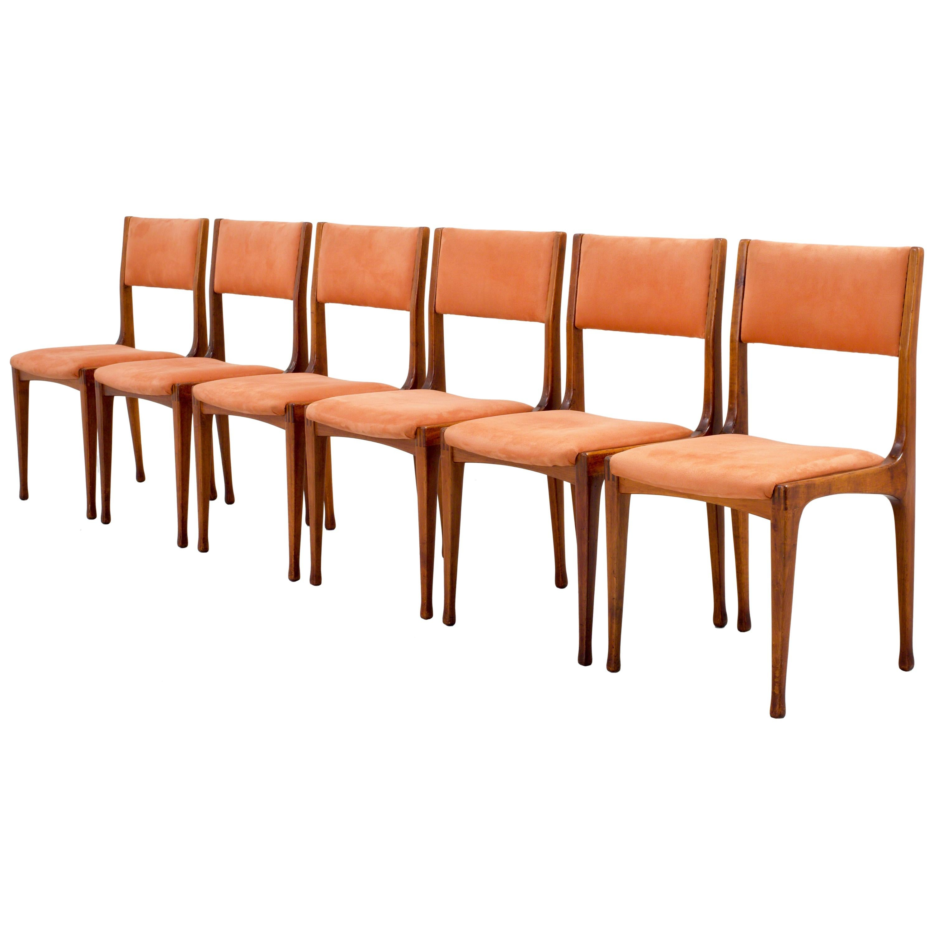 Set of Six Carlo de Carli '693' Dining Room Chairs for Cassina, Italy, 1959