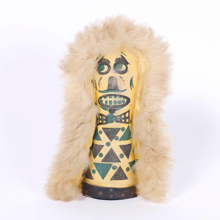 Folk Art Set of Six Carnival Knockdown Dolls For Sale