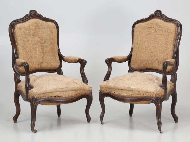 Set of Six Carved French Antique Living Room or Parlor Chairs For Sale 5