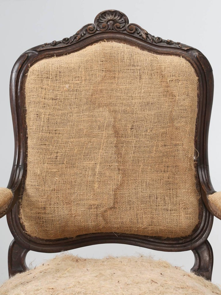 Set of Six Carved French Antique Living Room or Parlor Chairs For Sale 6