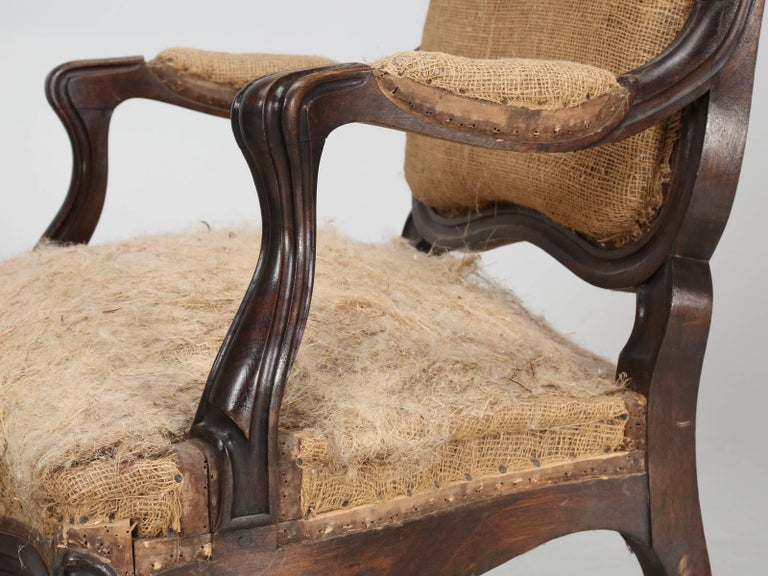 Set of Six Carved French Antique Living Room or Parlor Chairs For Sale 9