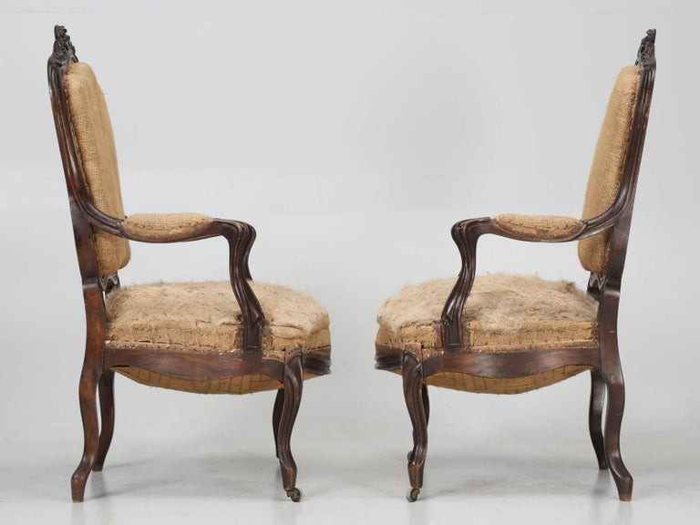 Set of Six Carved French Antique Living Room or Parlor Chairs For Sale 12