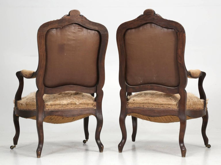 Set of Six Carved French Antique Living Room or Parlor Chairs For Sale 13