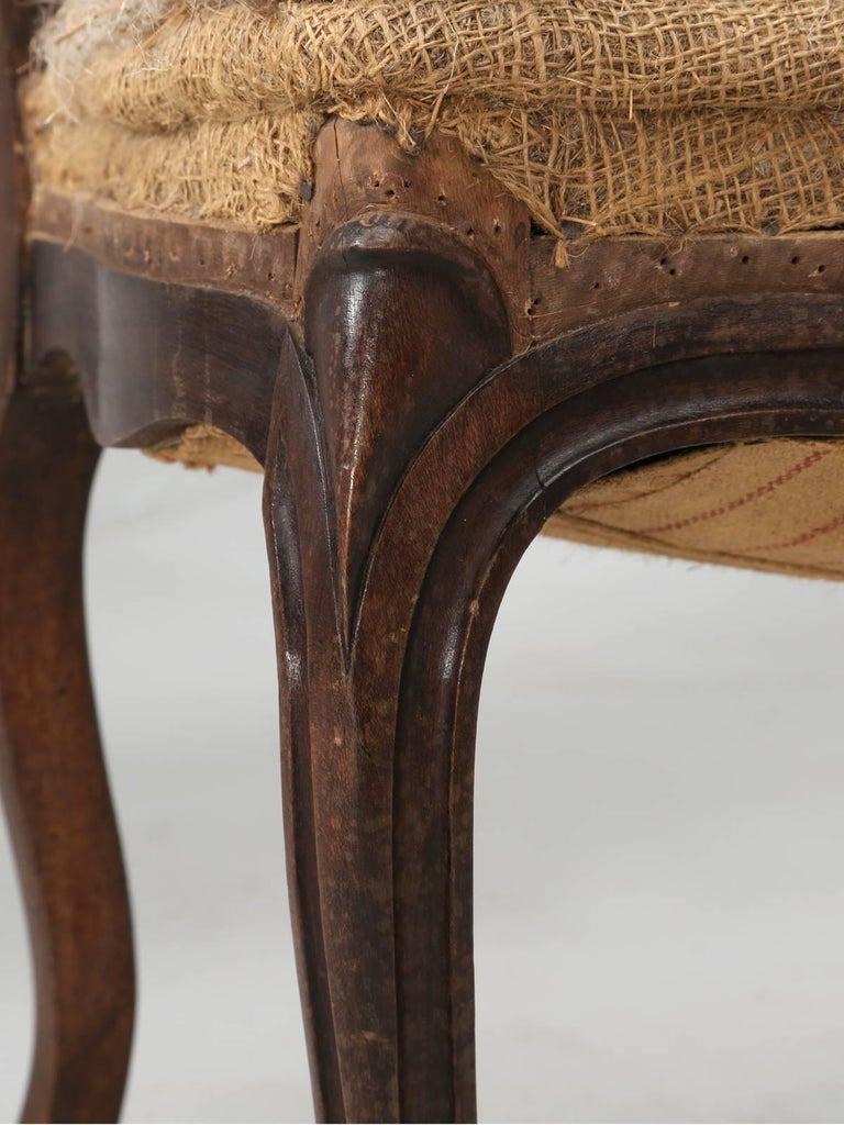 Late 19th Century Set of Six Carved French Antique Living Room or Parlor Chairs For Sale