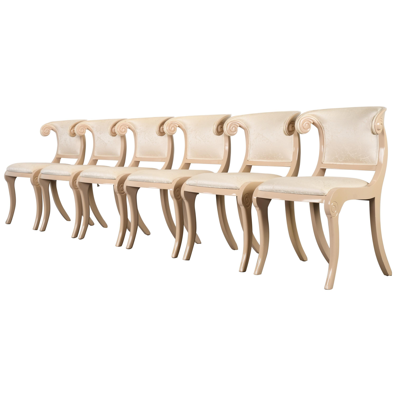 Set of Six Casa Stradivari Klismos Chairs, 1980s