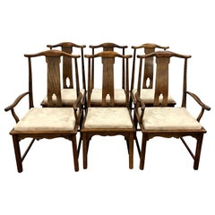 Set of Six Century Furniture Chin Hua Asian Style Dining Chairs