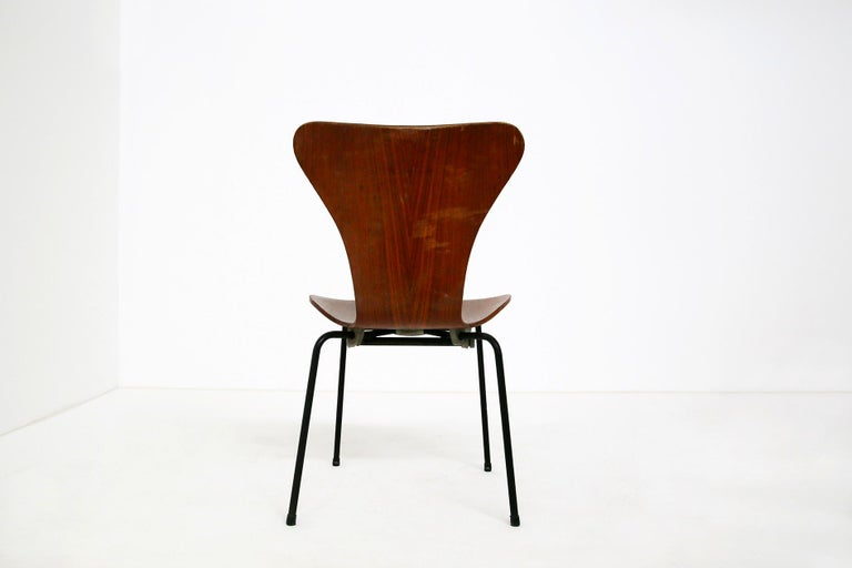 Set of Six Chairs by Arne Jacobsen M. Butterfly for the Brazilian Airline, 1950s In Good Condition For Sale In Milano, IT