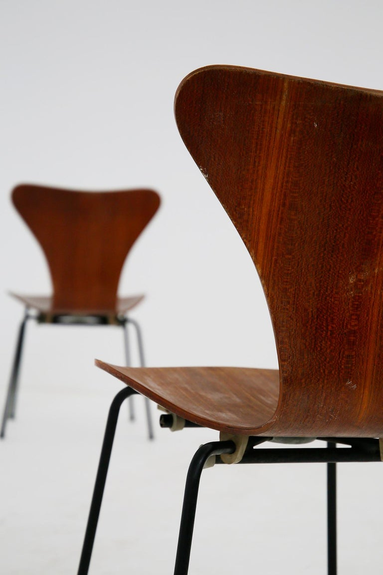 Set of Six Chairs by Arne Jacobsen M. Butterfly for the Brazilian Airline, 1950s For Sale 1
