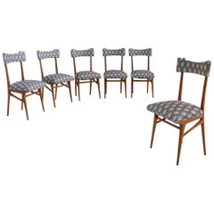 Set of Six Chairs Attributed to Ico Parisi