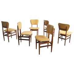 Set of Six Chairs by Carlo Hauner, Brazilian Design