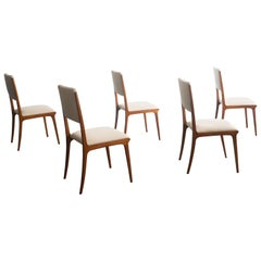 Set of Six Chairs by Carlo Hauner, Brazilian Design