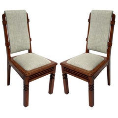 Set of Six Chairs by Charles Dudouyt