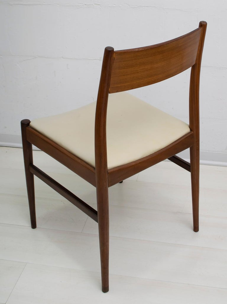 Set of Six Chairs by Gianfranco Frattini Teak Vintage, Italy, 1960s For Sale 1