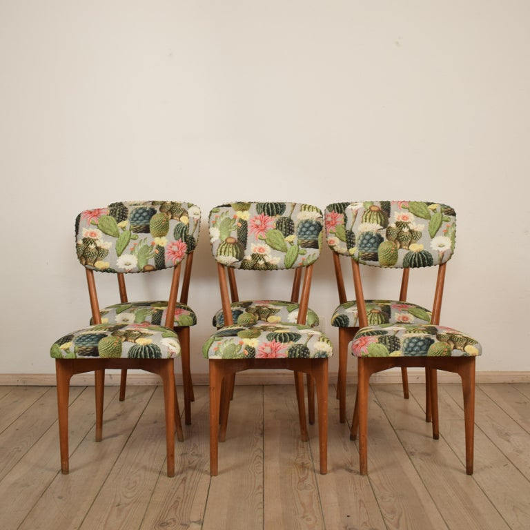 Mid-Century Modern Set of Six Chairs by Ico Parisi Model