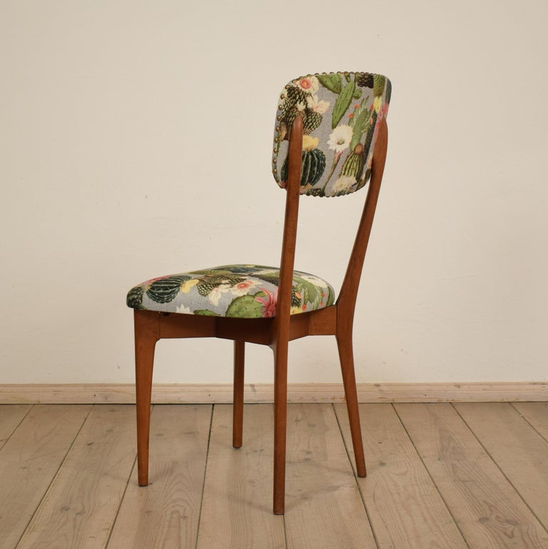 Beech Set of Six Chairs by Ico Parisi Model