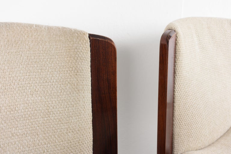 Set of Six Chairs by Joe Colombo for Pozzi, Solid wood, Italy 1965s For Sale 3