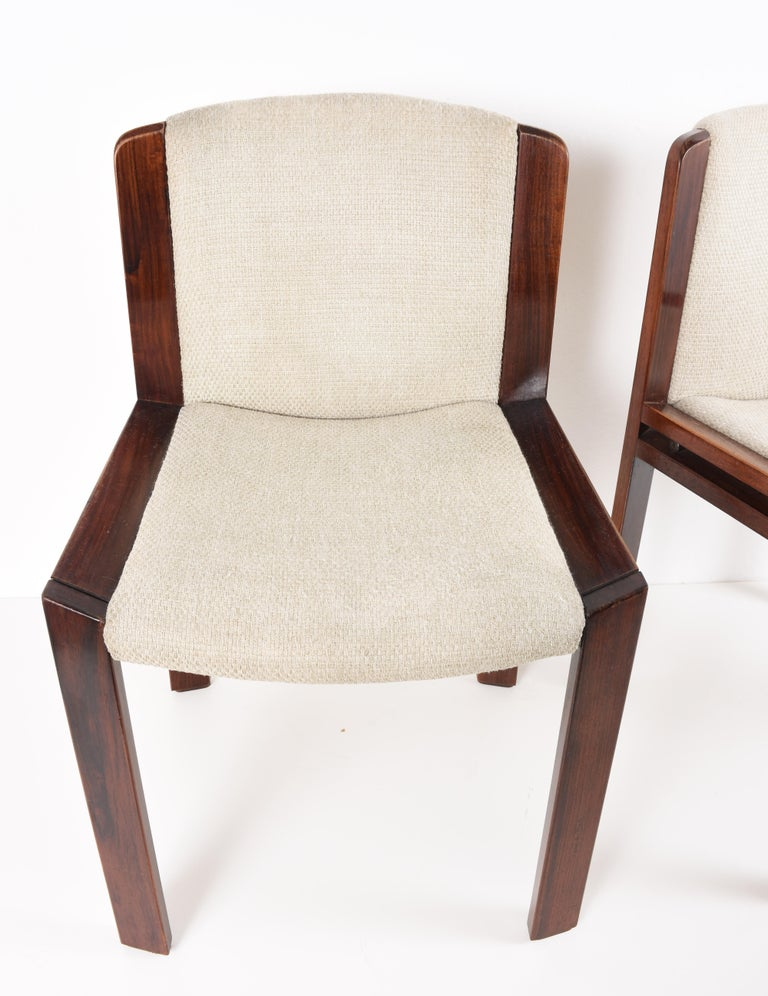 Set of Six Chairs by Joe Colombo for Pozzi, Solid wood, Italy 1965s For Sale 4