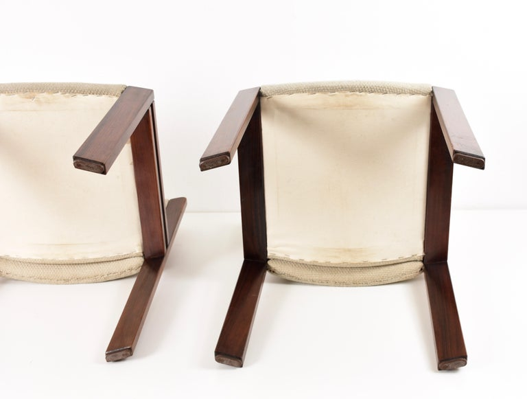 Set of Six Chairs by Joe Colombo for Pozzi, Solid wood, Italy 1965s For Sale 5