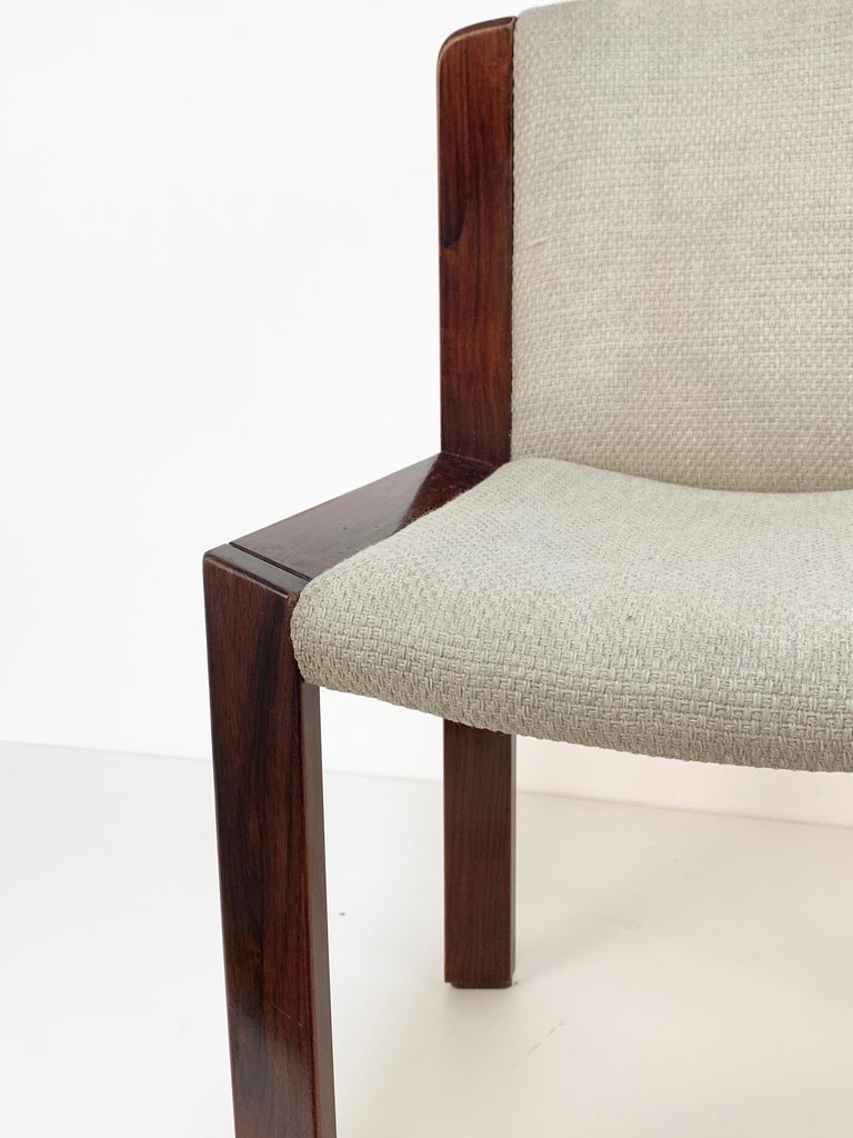 Set of Six Chairs by Joe Colombo for Pozzi, Solid wood, Italy 1965s For Sale 10