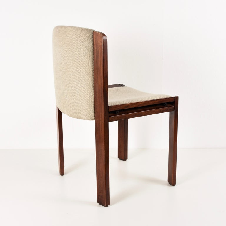 Set of Six Chairs by Joe Colombo for Pozzi, Solid wood, Italy 1965s In Fair Condition For Sale In Roma, IT