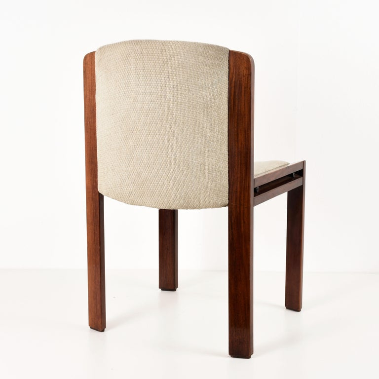 20th Century Set of Six Chairs by Joe Colombo for Pozzi, Solid wood, Italy 1965s For Sale