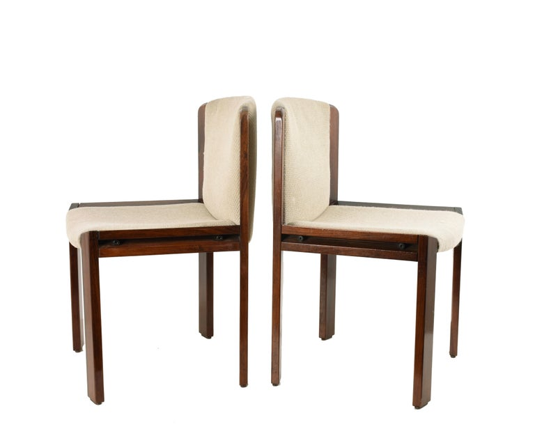 Set of Six Chairs by Joe Colombo for Pozzi, Solid wood, Italy 1965s For Sale 2
