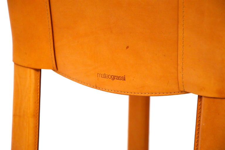 Italian Set of Six Chairs by Matteograssi in Leather Model