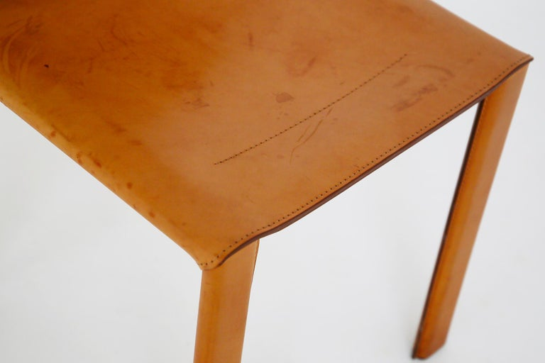 Set of Six Chairs by Matteograssi in Leather Model