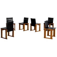 "Afra & Tobia Scarpa ""Monk"" Chairs - Set of 6"