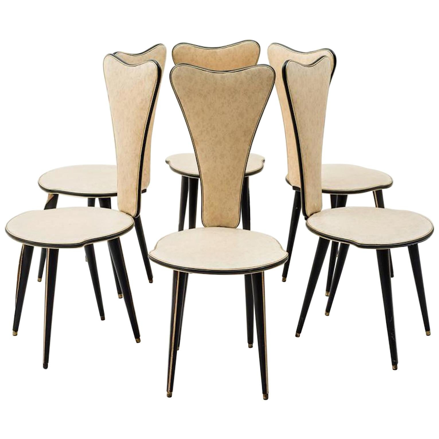 Set of Six Chairs by Umberto Mascagni, 1950s