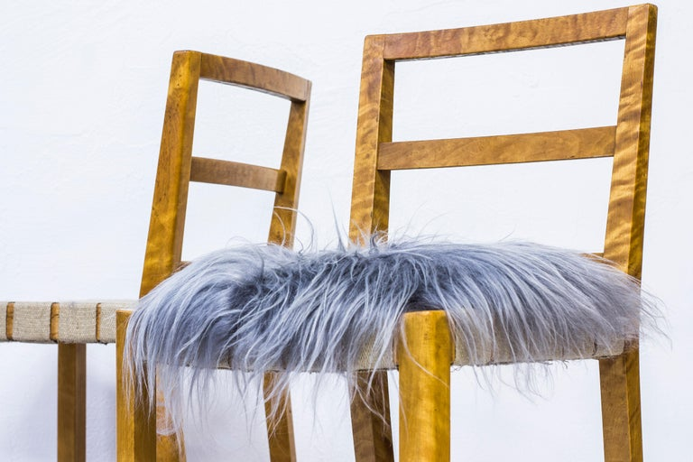 Set of Six Chairs by Uno Åhren for Gemla Fabrikers AB, Sweden, 1930s For Sale 1