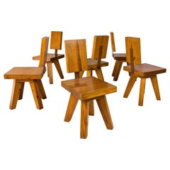 Set of Six Chairs, circa 1960, France
