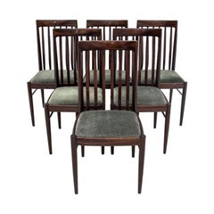 Set of Six Chairs, Danish Design, Designed by W.H. Klein 1960s after Renovation