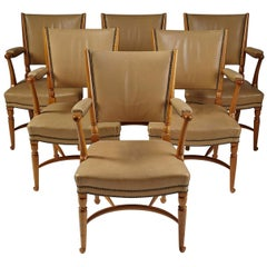 Set of Six Chairs Designed by Josef Frank for Svensk Tenn, Model 725, Sweden