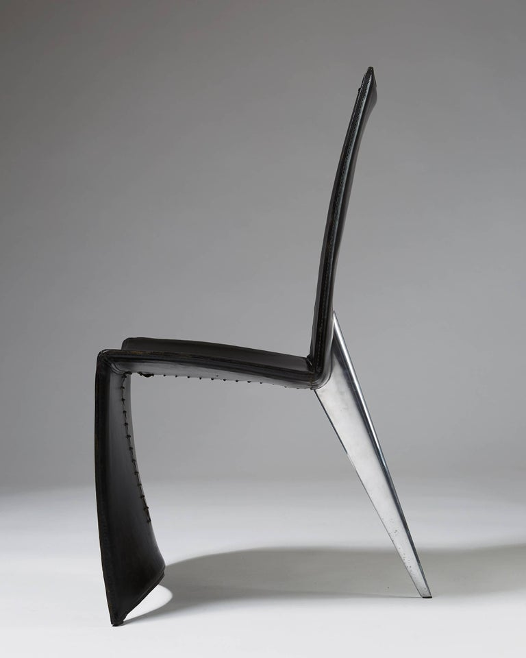 Cast Set of Six Chairs 'J Serie Lang' Designed by Philippe Starck for Aleph, Italy For Sale