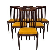 Set of Six Chairs Scandinavian Modern Designed by Henry Walter Klein, 1960s