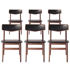 Set of Six Chairs with Rosewood Structure, Sweden, 1950