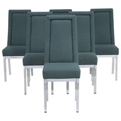 Set of Six Charles Hollis Jones Lucite Dining Chairs, 1970s