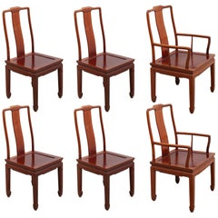 Set of Six Chinese Dining Chairs in Ming Style