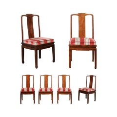 Set of Six Chinese Ming Style Chairs