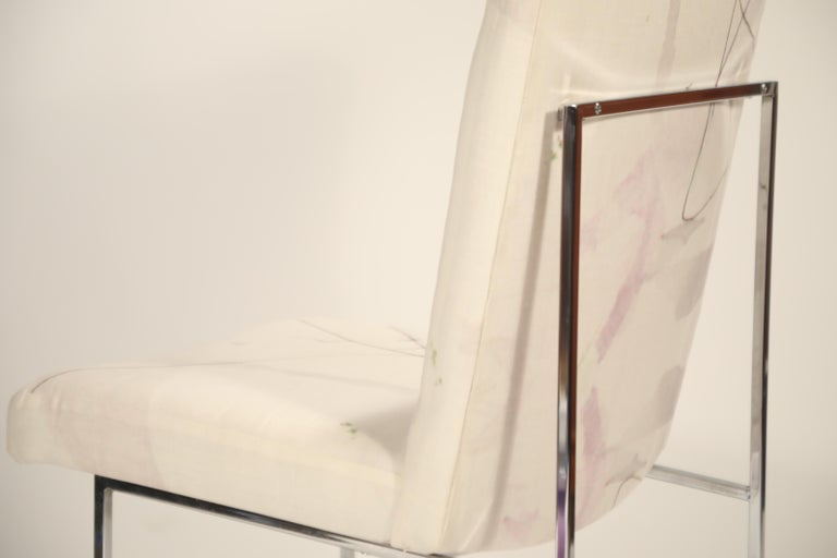 Set of Six Chrome Dining Chairs by Milo Baughman for Thayer Coggin, circa 1970 For Sale 6