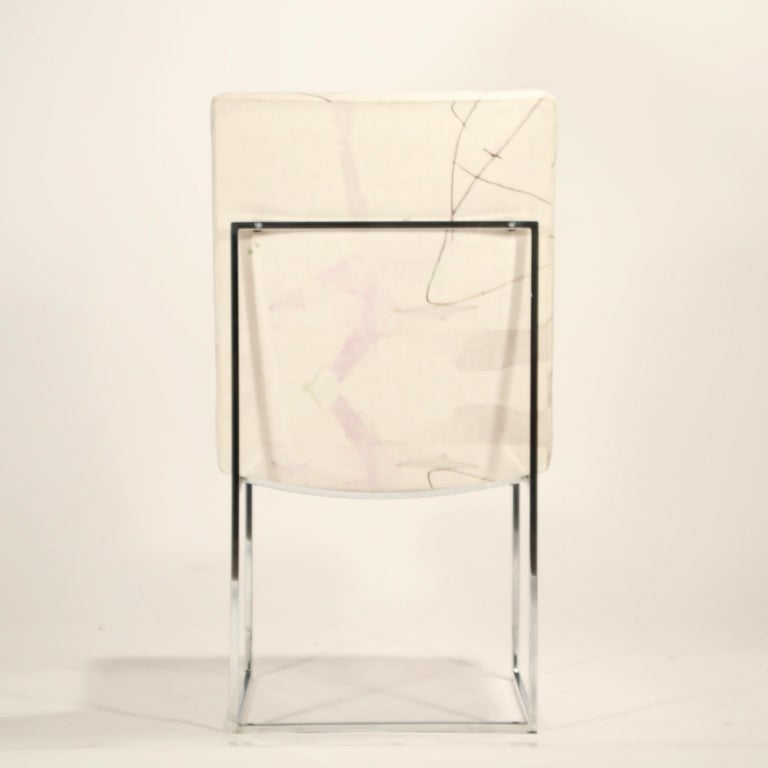 1970s Set of Six Chrome Dining Chairs by Milo Baughman for Thayer Coggin, circa 1970 For Sale