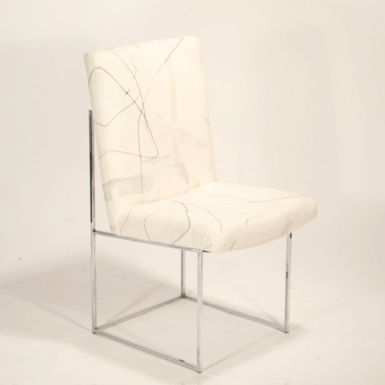Set of Six Chrome Dining Chairs by Milo Baughman for Thayer Coggin, circa 1970 For Sale 2