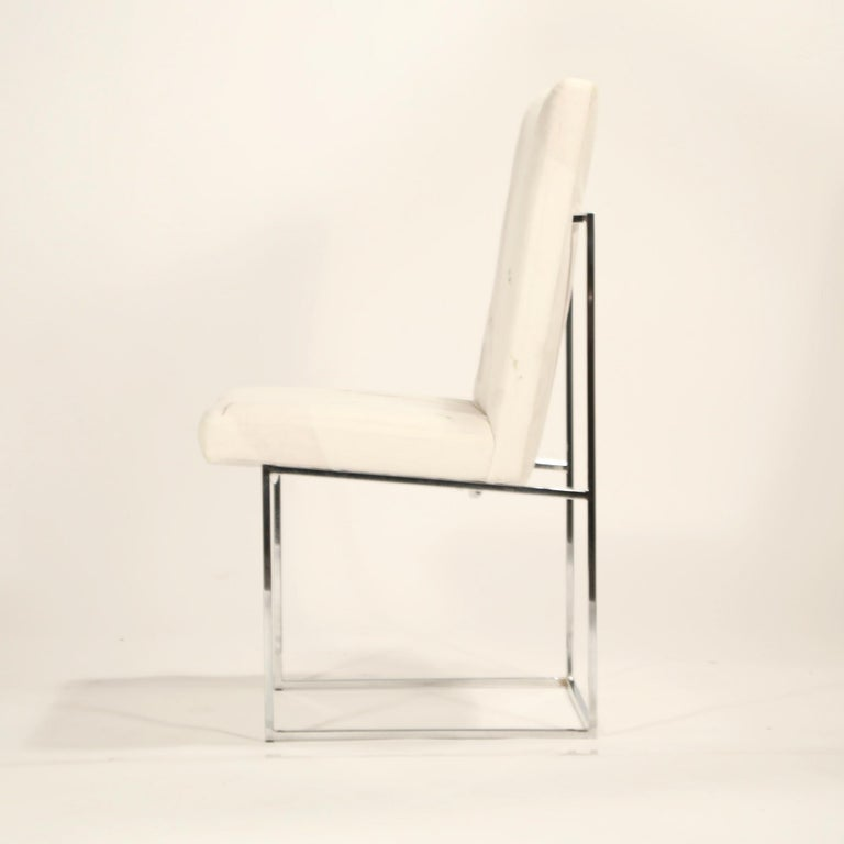 Set of Six Chrome Dining Chairs by Milo Baughman for Thayer Coggin, circa 1970 For Sale 3