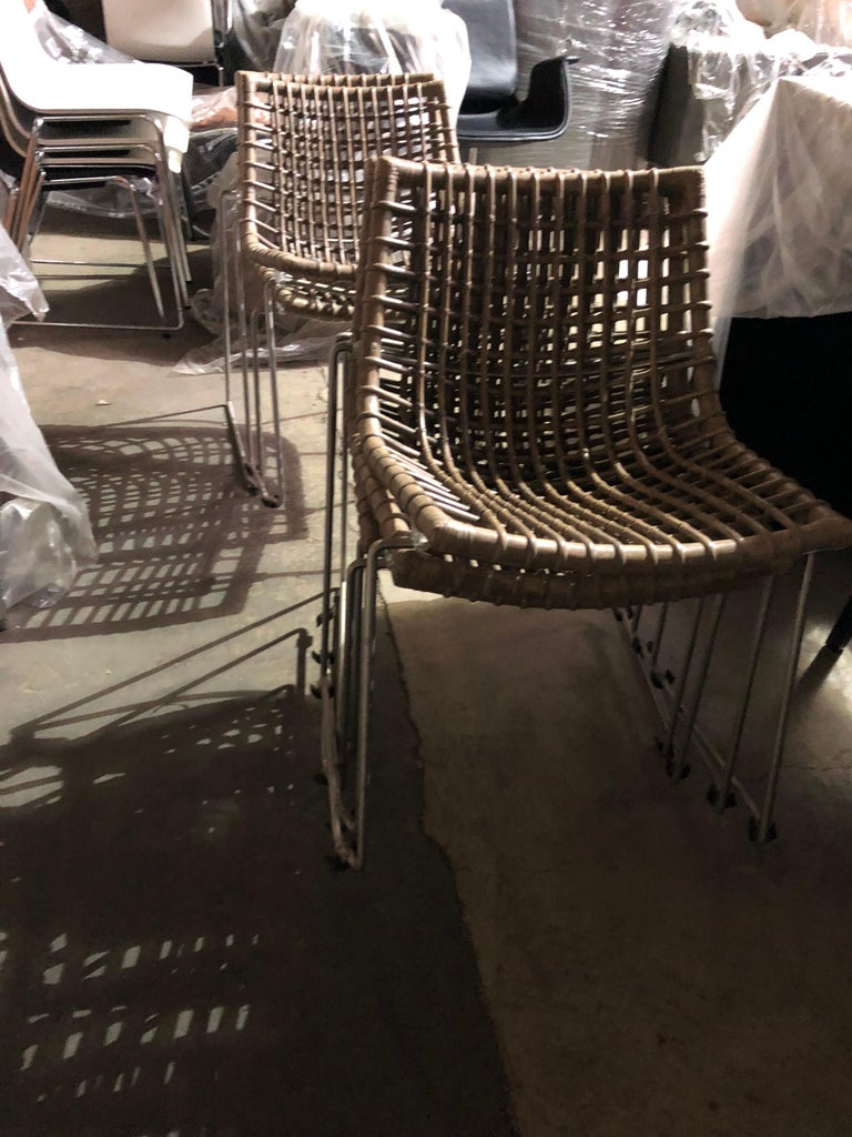 Set of Six Chyllium Stackable Chairs by Bonacina Pierantonio For Sale 5