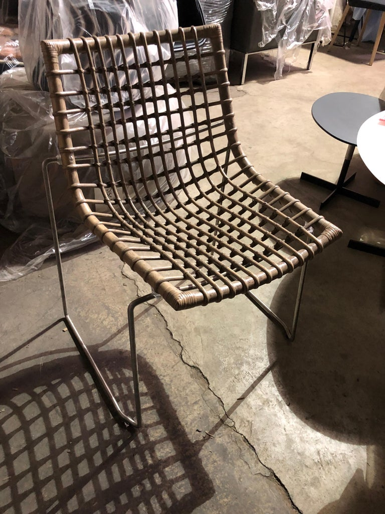 Set of Six Chyllium Stackable Chairs by Bonacina Pierantonio In Good Condition For Sale In New York, NY