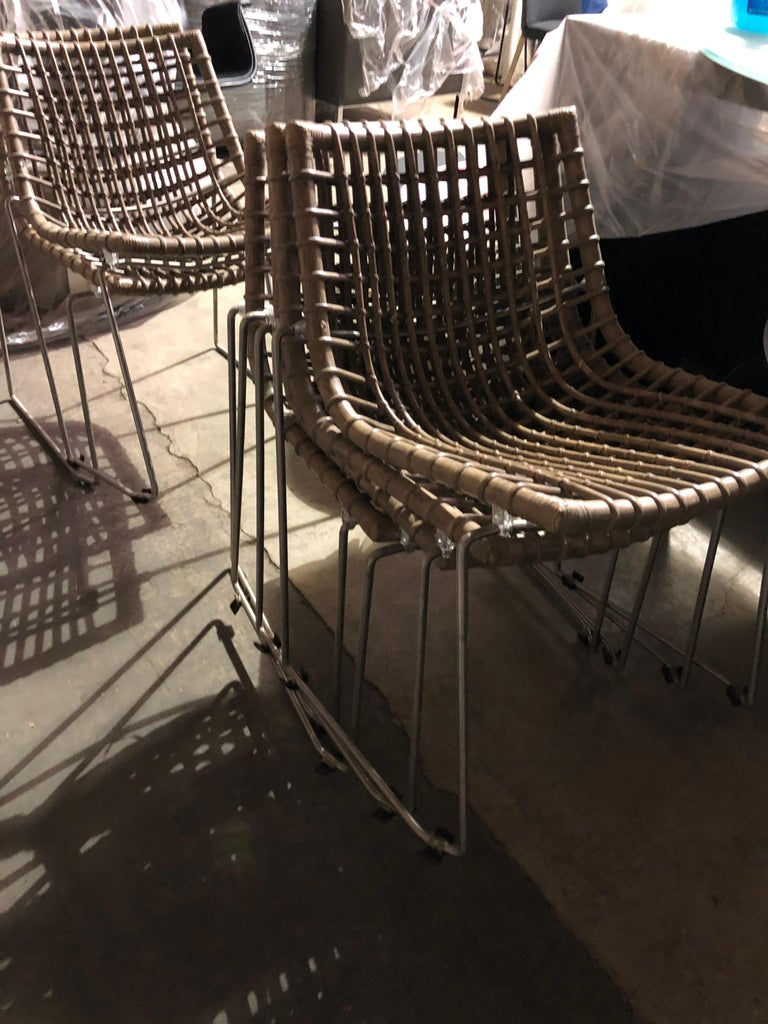 Set of Six Chyllium Stackable Chairs by Bonacina Pierantonio For Sale 4