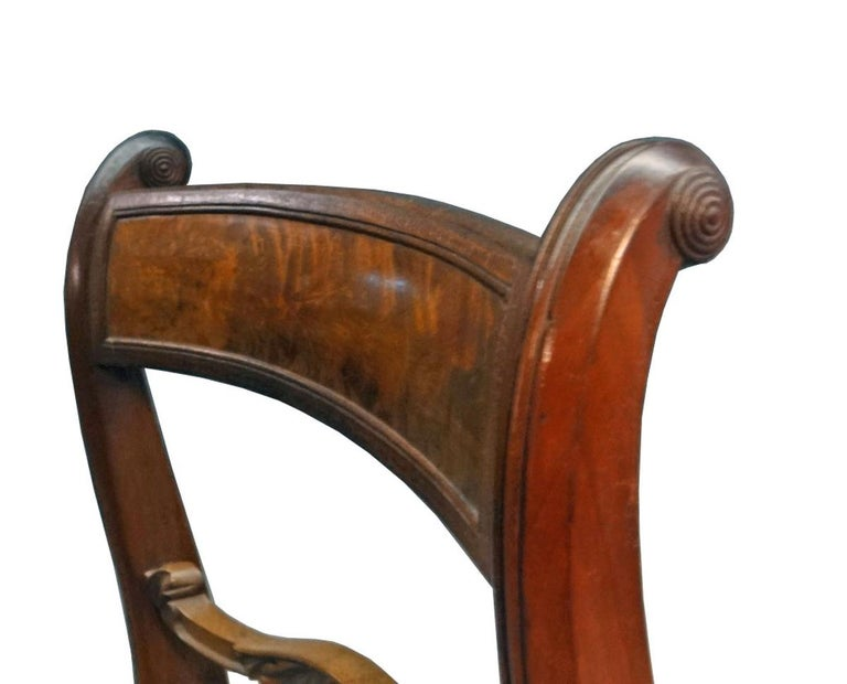 Set of Six Classical Dining Chairs Attributable to Duncan Phyfe, New York For Sale 2
