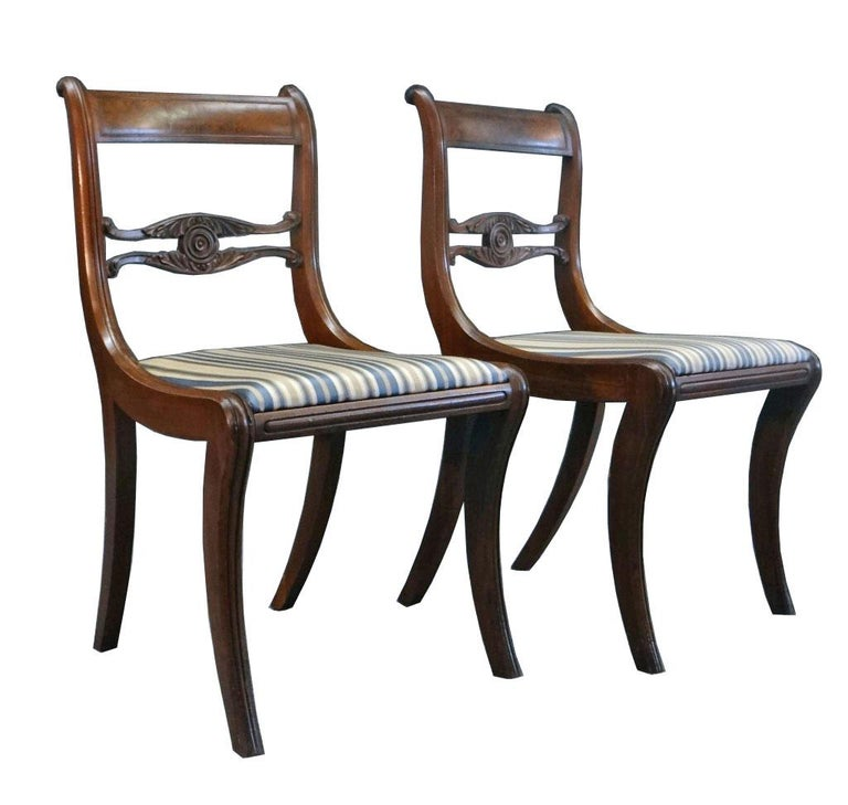 Set Of Six Classical Dining Chairs Attributable To Duncan Phyfe New