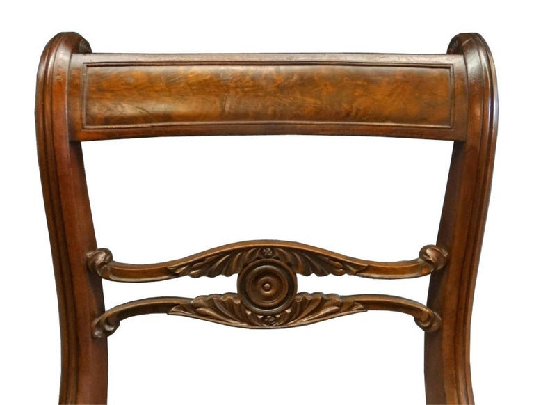 Set of Six Classical Dining Chairs Attributable to Duncan Phyfe, New York For Sale 1